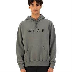 Olaf Olaf chainstitch hoodie DARK GEY
