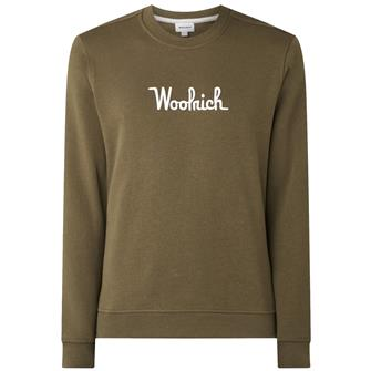 Woolrich Wosw0090 crew essential ARMY OLIVE 6291