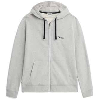 Woolrich Wosw0091 hoodie fz essential LIGHT GREY MEL