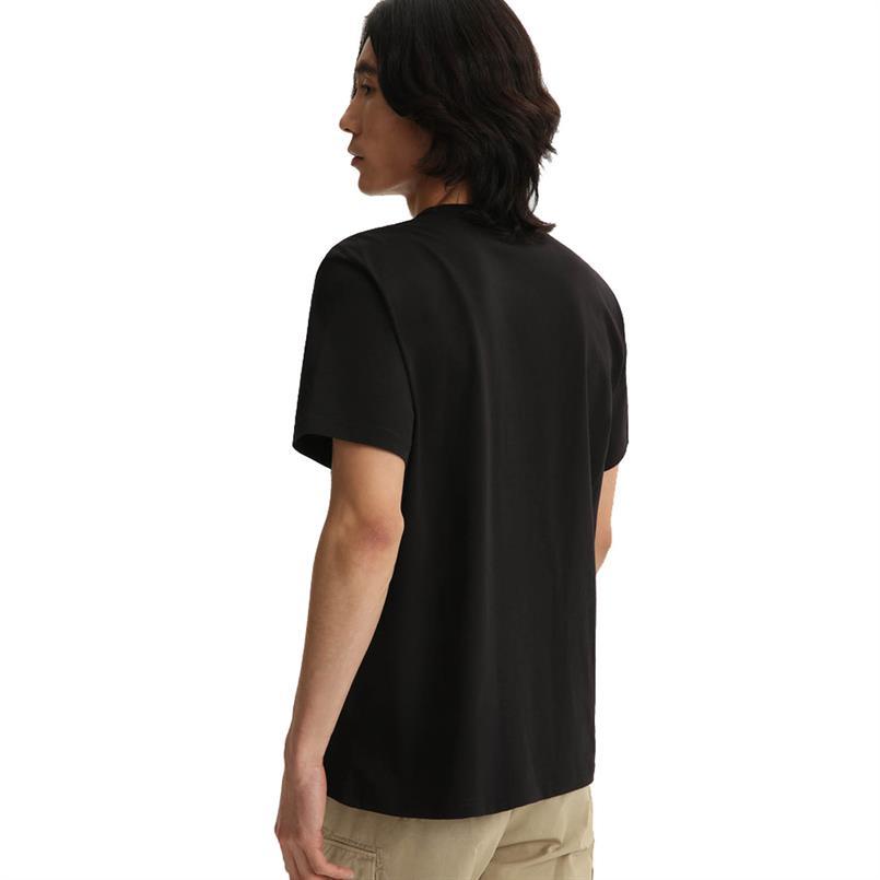 Woolrich Wote0048 macro logotee BLACK 100
