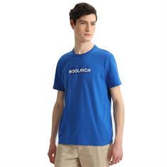 Woolrich Wote0048 macro logotee OCEAN BLUE 3062
